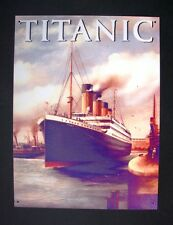 METAL SIGN-PLAQUE  VINTAGE WALL REPRODUCTION  OF THE WHITE STAR LINER  TITANIC