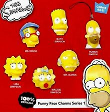 The Simpsons Funny Face Charms Danglers  SET OF 6