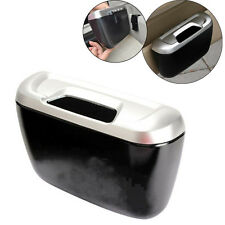Mini Vehicle Auto Car Garbage Dust Case Holder Box Bin Trash Rubbish Can Black