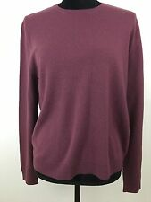 Saks Fifth Avenue 100% Cashmere Burgundy Crew Neck Sweater XL Long Sleeve