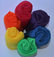 Rainbow Cheesecloth Wraps for Newborn Photography Props 36 x48  Grade 60