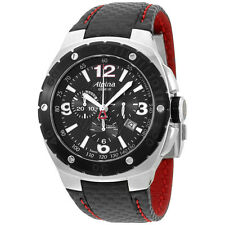 Alpina Racing Black Dial Black Leather Strap Men's Watch AL352LBR5AR6