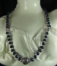 173CT XCLUSIV DESIGNER NATURAL  SAPPHIRE FACETED BEADS NECKLACE