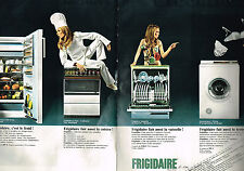PUBLICITE ADVERTISING 055  1969  FRIGIDAIRE  lave linge lave-vaisselle ( 2 pages