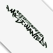 Black Carbon Fiber Need for Speed Most Wanted Car Sticker Decal 00416BK 20x3CM
