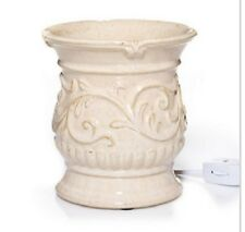 YANKEE CANDLE Everyday Ceramic Antique Cream Electric Wax Melts Warmer NEW