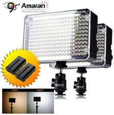2x Aputure Amaran AL-H198 CRI 95+ On Camera Led Video Light +2x NP-F550 Battery