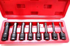 8PC 1/2 DR ALLEN HEX DRIVER IMPACT SOCKET SET ( SAE)