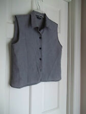 GOODCLOTHES COLLECTION LADIES SIZE 10 BLOUSE BLACK/WHITE CHECK SLEEVELESS SHIRT