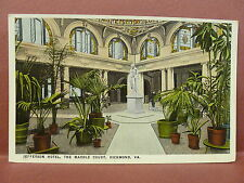 Old Postcard VA Richmond The Marble Court Jefferson Hotel