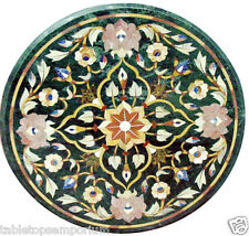 Size 2'x2' Marble Coffee Table Top Handmade Marquetry Mosaic Christmas Decor Art