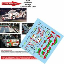 DÉCALS 1/24 réf 1274 BMW M3 Delage Lyon Charbo 1995