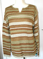 Marks & Spencer Medium UK12-14 EU40-42 new sand mix ribbon knit jumper