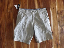 NWT Mens O'NEILL Flat Front Casual Marcos Khaki Textured Plaid Shorts Sz 36