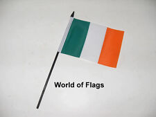 "IRELAND SMALL HAND WAVING FLAG 6"" x 4"" Irish Eire Crafts Table Display"