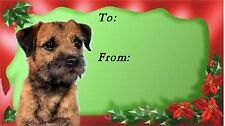 Border Terrier Dog Christmas Labels By Starprint