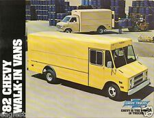 Truck Brochure - Chevrolet - Walk-in Vans - Chevy - 1982 (TB833)