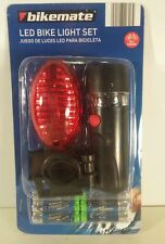 Bicycle LED Bike Light Set Bikemate Front & Rear Detachable Battery Operated NEW