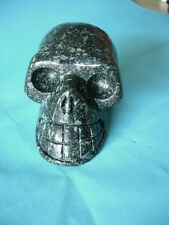 Crystal Skull Chinese green spray stone