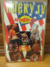 Vintage Rocky IV the movie 1985 small poster Action pack advertisement