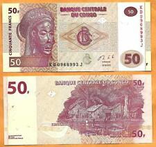 Congo DR 2013 GEM UNC  50 Francs  Banknote  Money Bill P- 97-NEW