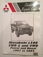 MITSUBISHI L200 2WD 4WD 2L 2.4L Petrol 2.5L Diesel engines WORKSHOP MANUAL 97-02