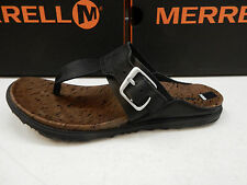 MERRELL WOMENS SANDALS AROUND TOWN POST BLACK SIZE 7