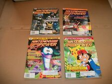LOT of 4 Nintendo Power magazines game book 1999 volume numbers 122 125 124 118