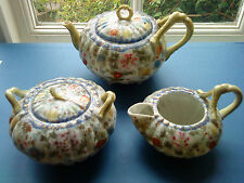 Antique Chinese Rose Porcelain part Tea Set  Circa 1870's  with damage as photos