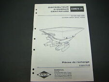 Kuhn Manual Centrifuge Comete ZS in French Parts List No.9014 176.05