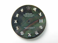 Men's Rolex Datejust S-S Non-Quickset Pie Pan 1601 Black MOP with Diamond Dial