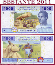 Central African States  U = CAMEROUN  1.000 1000 Francs 2002 - P 207U -  FDS/UNC