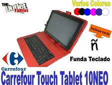 "FUNDA CON TECLADO PARA TABLET CARREFOUR TOUCH TABLET 10NEO 10"" UNIVERSAL"