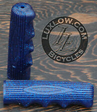 Blue Sparkle Vintage Schwinn Stingray Type Bike Grips Lowrider Bicycle Cruiser