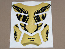 Gold Motorcycle Gas Fuel Oil Tank Pad Protector Decal Sticker Universal New