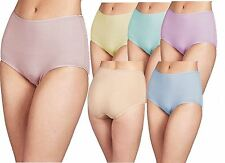 6 pairs Ladies Pastel Colours Full Mama Briefs Brief WMS 100% Cotton