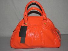 NEW NWT MARC by MARC JACOBS VIBRANT CORAL RED ITALIAN LEATHER SATCHEL BAG