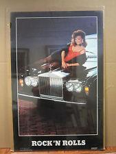 Vintage Rock 'N Rolls 1985 poster hot girl man cave car garage  3547