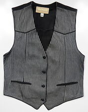 ROBERTO CAVALLI WOMENS SMALL 100% SUEDE LEATHER SUIT VEST GREY BLACK ITALY MADE