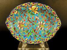 Belle coupe aux fleurs, émaux de Longwy 28,5 cm c1900 enamelled cup with Flowers