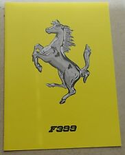 Ferrari F399 Folder Brochure Prospekt 1445/99 no book buch press depliant