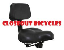 NEW BICYCLE SEAT WITH BACK REST BEACH CRUISER LOWRIDER BIKES CYCLING