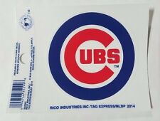 """Chicago Cubs 3 x 4"""" Small Static Cling - Truck Car Auto Window Decal NEW"""