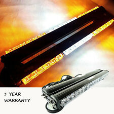 "18"" 108W Double Side Car Truck Hazard Flashing Strobe Work Light Bar Amber/White"