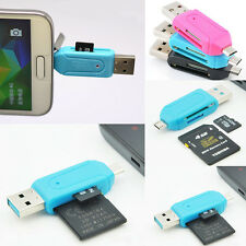 Mini USB 2.0 SD+Micro SD/T-Flash Memory Card Reader Adapter For Smart Phone PC