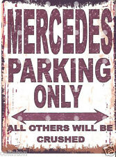 MERCEDES PARKING SIGN RETRO VINTAGE STYLE 8x10in 20x25cm garage workshop art