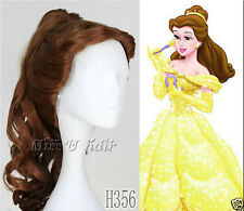 Disney Movie Beauty and the Beast Belle Curly Anime Cosplay Wig