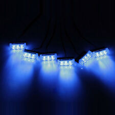 Blue 18 LED Emergency Hazard Car Truck Vehicle Police Grill Strobe Lights Bars