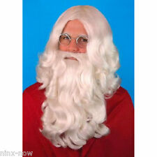 Deluxe Santa Wig and Beard Set Men's fancy dress costume accessory Great Quality