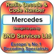 Mercedes Benz Radio Code Decode Unlock by Serial Number